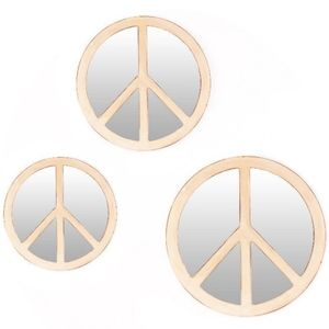 Kirkland Signature Wall Art - Peace Sign Distressed White Mirrors